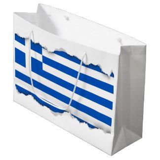 Flag of Greece Large Gift Bag
