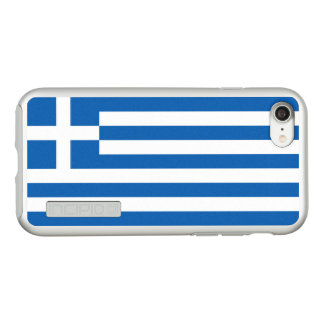 Flag of Greece Silver iPhone Case