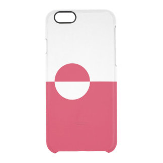 Flag of Greenland Clear iPhone Case