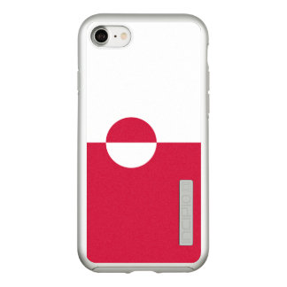 Flag of Greenland Silver iPhone Case