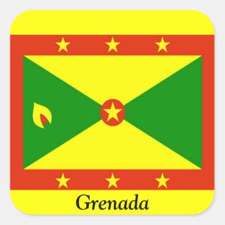 Flag of Grenada Square Sticker