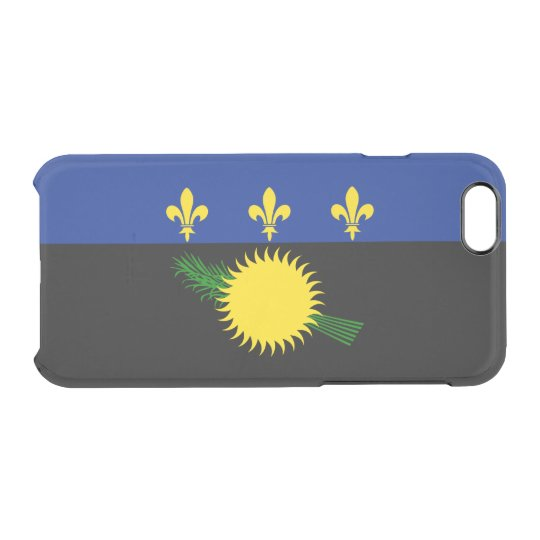 Flag of Guadeloupe Clear iPhone Case