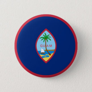 Flag of Guam (USA) on Pin / Button Badge