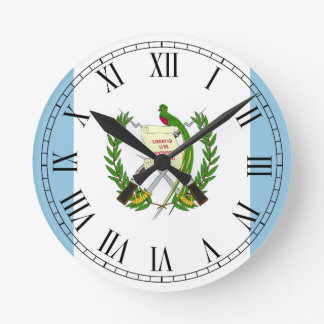 Flag of Guatamala Wall Clocks