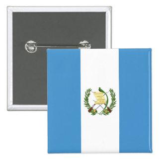 Flag of Guatemala - Central American 2 Inch Square Button