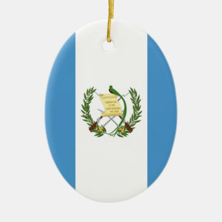 Flag of Guatemala - Central American Ceramic Oval Ornament