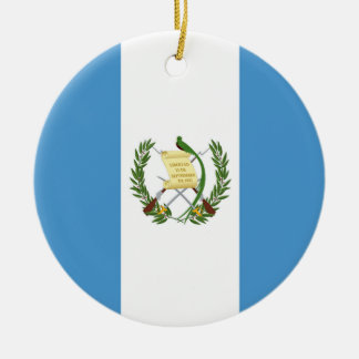 Flag of Guatemala - Central American Round Ceramic Ornament