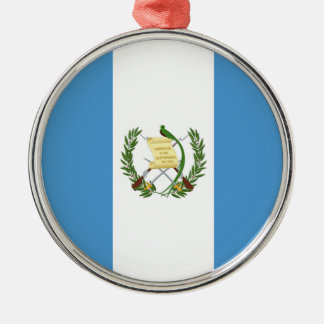 Flag of Guatemala - Central American Silver-Colored Round Ornament