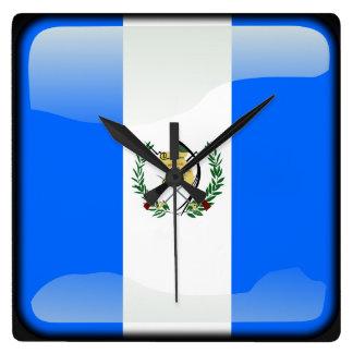 Flag of Guatemala Square Wall Clock