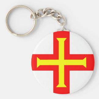 Flag of Guernsey Keychain