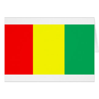 Flag of Guinea Greeting Card