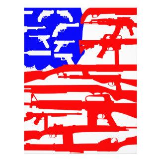 Flag Of Guns 2nd Amendment Custom Letterhead