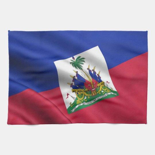 FLAG OF HAITI HAND TOWELS