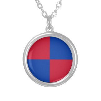 Flag of Harenkarspel Silver Plated Necklace