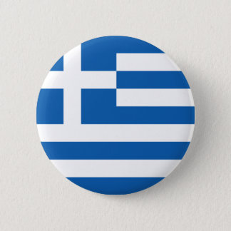 Flag of Hellenic Republic (Greece) 2 Inch Round Button