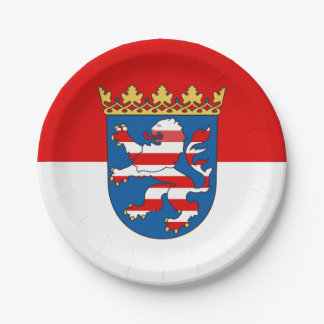Flag of Hesse Paper Plate