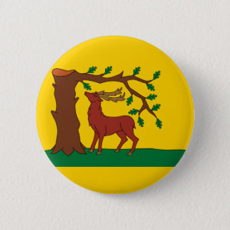Flag of historic county of Berkshire 2 Inch Round Button