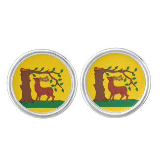 Flag of historic county of Berkshire Cufflinks