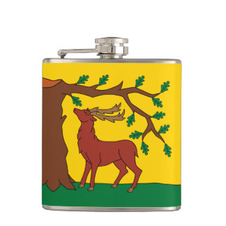 Flag of historic county of Berkshire Hip Flask