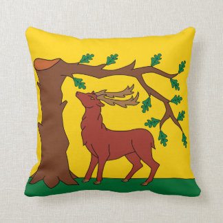 Flag of historic county of Berkshire Throw Pillow