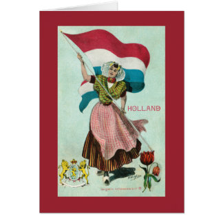 Flag of Holland - (Kingdom of the Netherlands) Card