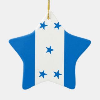 Flag of Honduras - Bandera Hondureña de Honduras Ceramic Ornament