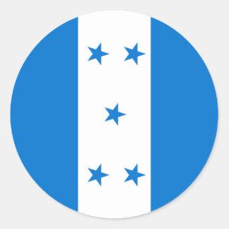 Flag of Honduras - Bandera Hondureña de Honduras Classic Round Sticker