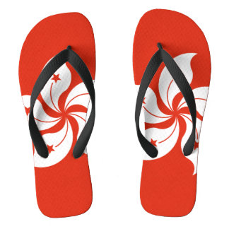 Flag of Hong Kong Flip Flops