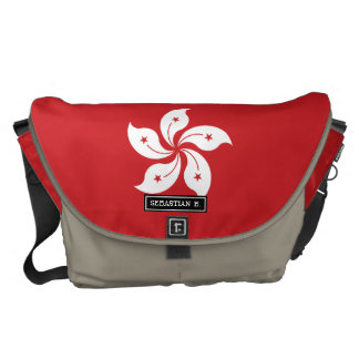 Flag of Hong Kong Messenger Bags