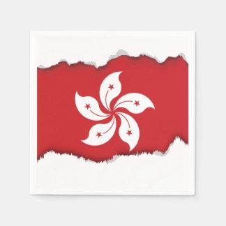 Flag of Hong Kong Paper Napkin