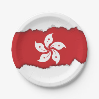Flag of Hong Kong Paper Plate