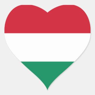 Flag of Hungary Heart Sticker