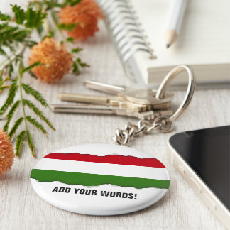 Flag of Hungary Keychain