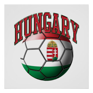 Flag of Hungary Soccer Ball Poster