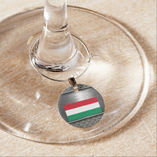 Flag of Hungary Wine Charm