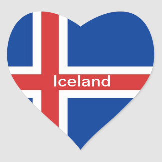 Flag of Iceland Heart Sticker