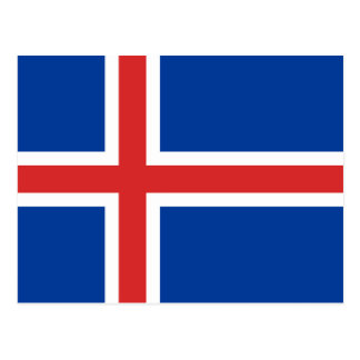 Flag of Iceland Postcard