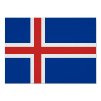 Flag of Iceland Poster