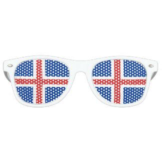 Flag of Iceland Retro Sunglasses