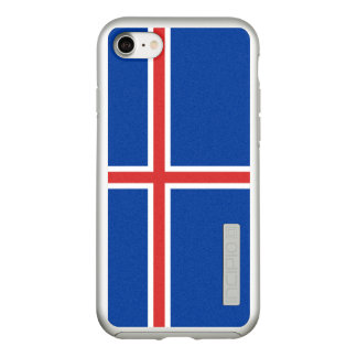 Flag of Iceland Silver iPhone Case