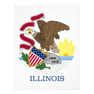 Flag Of Illinois Letterhead