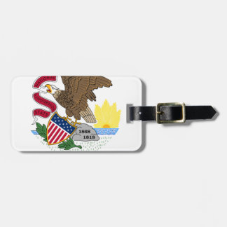 Flag Of Illinois Luggage Tag