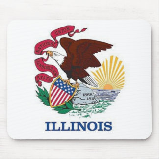 Flag of Illinois Mouse Pad
