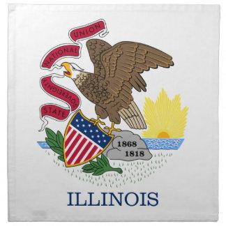 Flag Of Illinois Napkin