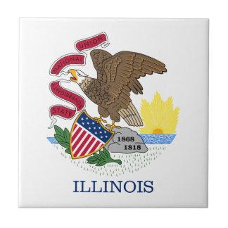 Flag Of Illinois Tile