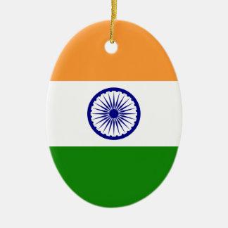 Flag of India - तिरंगा  - भारत का ध्वज Ceramic Oval Ornament