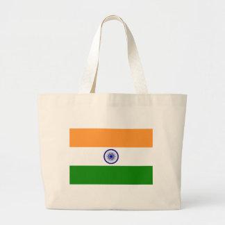 Flag of India - तिरंगा  - भारत का ध्वज Large Tote Bag