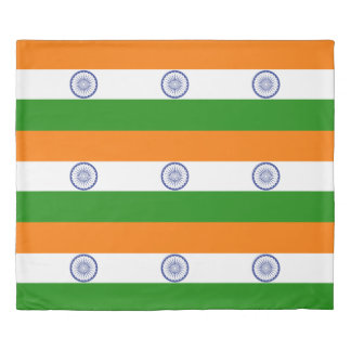 Flag of India Ashoka Chakra Duvet Cover