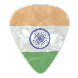 Flag of India Guitar Picks Pearl Celluloid Guitar Pick