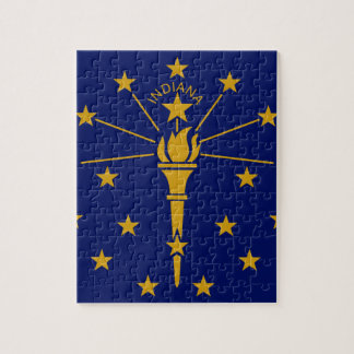 Flag Of Indiana Jigsaw Puzzle